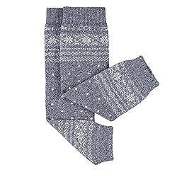 Hoppediz Cashmeremerino Wool Baby Leg Warmers (Norwegian Grey)