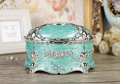 Jbzll metallo antico anello collana gioielli Trinket display Storage box case, organizer per gioiel