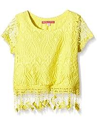 Derhy Kids Edwige - T-shirt - Uni - Col rond - Manches courtes - Fille
