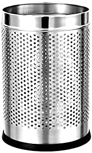 Mofna Industries Stainless Steel Perforated Dustbin 11L for Office and Home