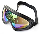 Snowmobile Snow Ski & Cycling Bicycle Bike & Powersports Motorcycle Goggles Sport Safety Protective Glass Windproof UV400 Colorful Mens Women (Colorful-tinted)