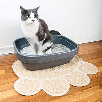 Pet Magasin Tapis de Litière pour Chats (Ensemble de 2 Tapis) Protège-litière non toxique, doux, durable et résistant à l'eau pour chiens, chats et chiots (Grande)