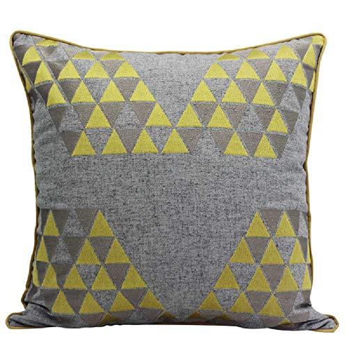 KissenbezugKissen Nordeuropa, einfache Baumwolle, gestickte Couch, Kissenbezug, Bettwäsche, Kissenbezug. 45 * 45cm/ -