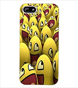 ColourCraft Smilies Design Back Case Cover for APPLE IPHONE 5