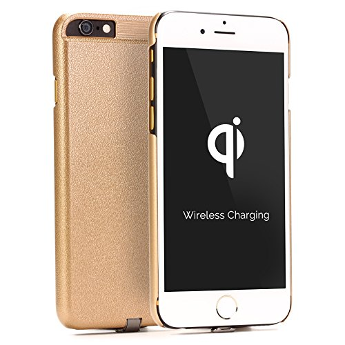 Urcover® Apple iPhone 6 / 6s Qi FAST CHARGING Backcase| Kunststoff in Rose Gold | Ladeempfänger Slim Wireless Charging Ladegerät dünn kabellos laden Rose Gold
