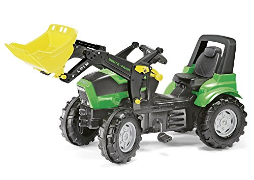 *Rolly Toys 710034 Kindertraktor Farmtrac Premium Deutz Agrotron 7250 TTV inklusive Frontlader Trac Lader, mit Kettenantrieb, Flüsterreifen, verstellbarer Sitz (für Kinder ab 3 Jahren, TÜV/GS geprüft*