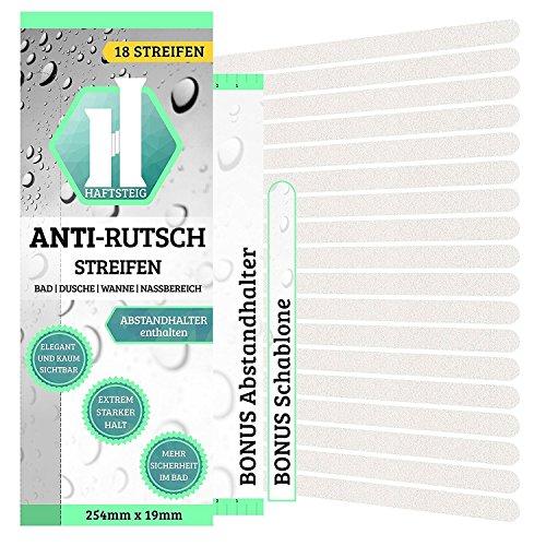 HAFTSTEIG 18 x Anti-Rutsch Streifen + BONUS Abstandhalter