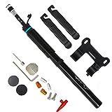 Mini pompe à vélo Portable Compatible avec valve Schrader et Presta – Acpop haute pression Pompe à vélo Convient pour BMX, Route et VTT et basket-ball et football – 150 PSI Contenance