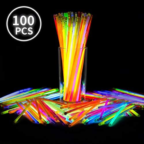 E-More Glow Sticks Bulk, 100 8