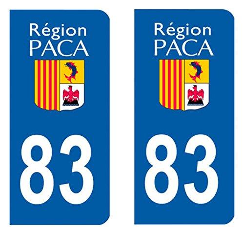 Paire sticker immatriculation 83 – Var Prix