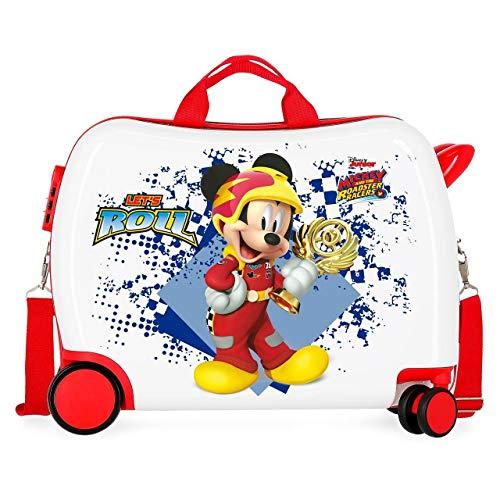 Trolley Cavalcabile Disney Mickey Joy 4 Ruote 38x50x20cm Multicolor