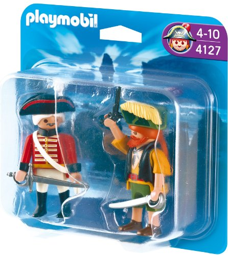 PLAYMOBIL 4127 - Duo Pack Pirat und Rotrock
