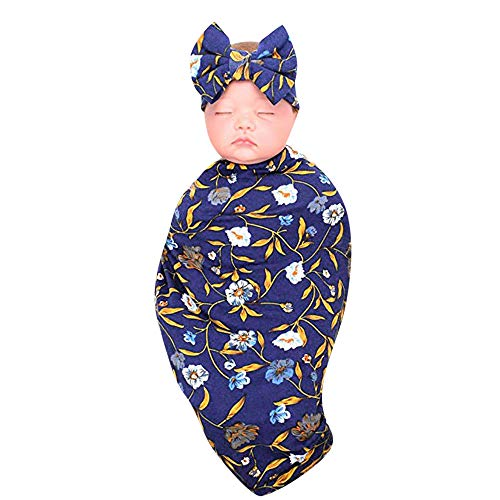 LANSKIRT _Vetement D'enfant Vetement bébé, Nouveau-né bébé Costume Deux pièces Lingettes pour bébé Sac de Couchage + Bandeau LANSKIRT _Vetement D'enfant