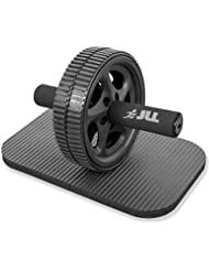 JLL® Ab Roller Abdominal trainer Exercise Wheel Roller & Knee Pad. Comfort Handles. Strength Training Body Fitness for Abdominal Muscles.