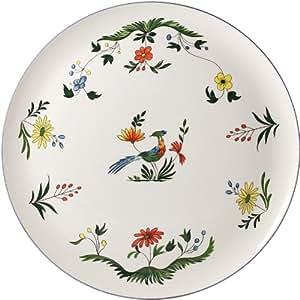 Gien - Oiseau paradis - Plat a tarte - Diametre 32cm