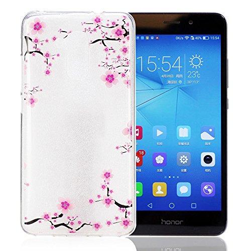 Preisvergleich Produktbild ISENPENK Tasche Neu Für Huawei Honor 5C(2016)/Huawei Honor 7 Lite/Huawei GT3 Hülle Silikon Muster Tiere [Blumen],Huawei Honor 5C(2016)/Huawei Honor 7 Lite/Huawei GT3 Hülle Silikon Transparent Durchsichtig Case Anti-Scratches wasserdicht Schutzhülle