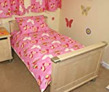 Glitter Butterfly Cot Bed/Junior Duvet Cover & Pillowcase - Cotton - Uk Made