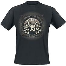CBGB Rock Hand T-Shirt schwarz