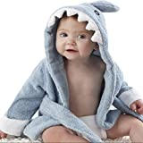 FAVOLOOK Baby Jungen (0-24 Monate) Bademantel Gr. S, Blue Shark