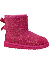 UGG Y Mini Bailey Bow Metallic Conifer red violet