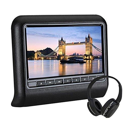 wzmirai HD Auto DVD-Player Universal Multimedia Kopfstütze Monitor Digital TFT LCD breit View Bildschirm Kopfstütze DVD unterstützt IR/USB/SD/FM mit Fernbedienung
