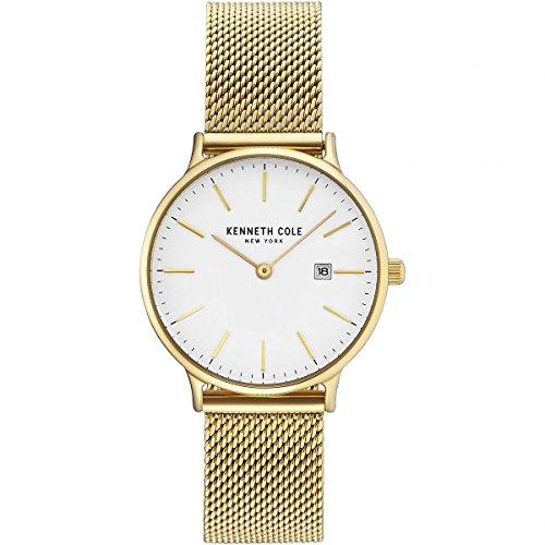 68672d2a68f0 Kenneth Cole Reloj Analógico para Mujer de Cuarzo con Correa en Acero  Inoxidable KC15057006