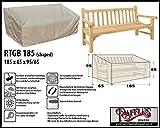 Raffles Covers RTGB185 Schutzhülle für Gartenbank 3 Sitzer Schutzhülle für rechteckigen Gartentisch, Abdeckhaube für Gartentisch, Gartenmöbel Abdeckung