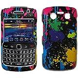 Paint Splatter Design Hard Cover Crystal Case for Blackberry Bold 9700