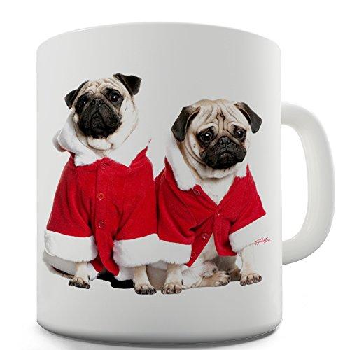TWISTED ENVY Navidad Perros Taza de cerámica novedad