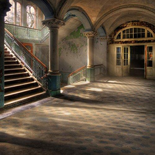 Vintage Photography Hintergrund 10x 10ft Castle Hall Treppe Stein Säule Arch Romantischer Hintergrund für Foto Studio