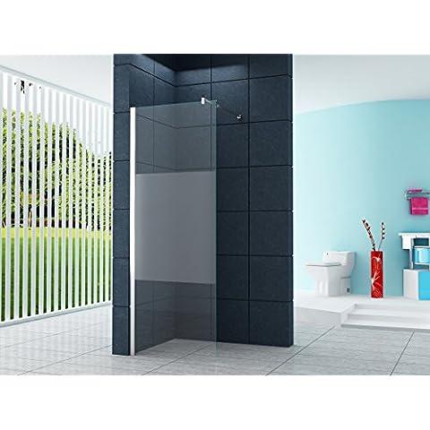 10 millimetri Cabina doccia Dusseldorf Cover 80 x 200 cm vetro trasparente con striscia / Walk-In Cabina doccia doccia parete doccia da parete divisoria