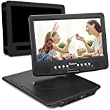 NAVISKAUTO 10.1 Inch HD Portable DVD/CD Player With SD Card Slot USB Port And 5 Hour Built-In Rechargeable Battery