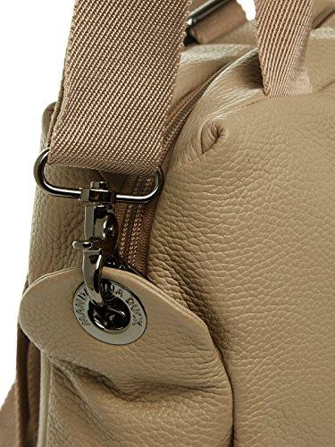Mandarina Duck - Mellow Leather Tracolla, Zaino Donna Grau (SIMPLY TAUPE)