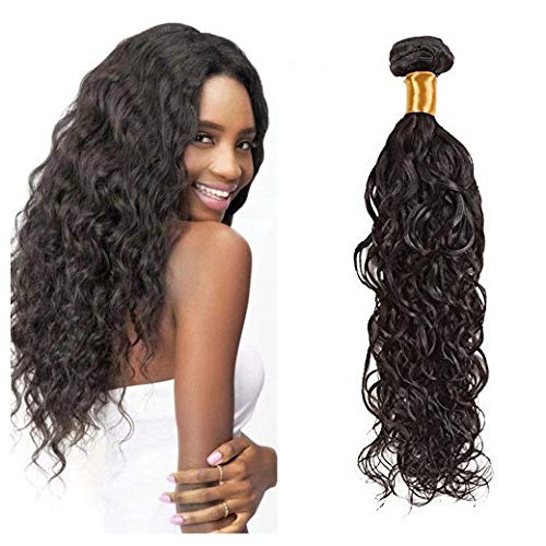 Ugeat Sew in Weave Brasilianisch Echthaar Tressen 22 Zoll 100% Natural Wave Real Haare Weaving Extensions 100g/bundle