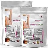 1000 Fatblock-1300 (2x 500 Kapseln) Bulk Pack XL - Rein pflanzlich + hochdosiert, Fettverbrennung, Gewichtsreduktion - Premium Qualität