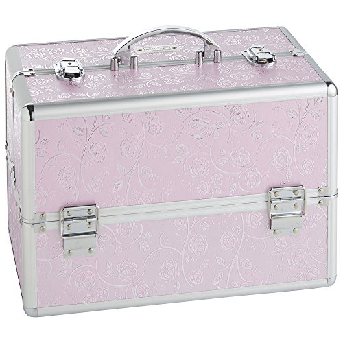 beautify-professional-large-lockable-vanity-make-up-beauty-storage-case-pink-silver-rose