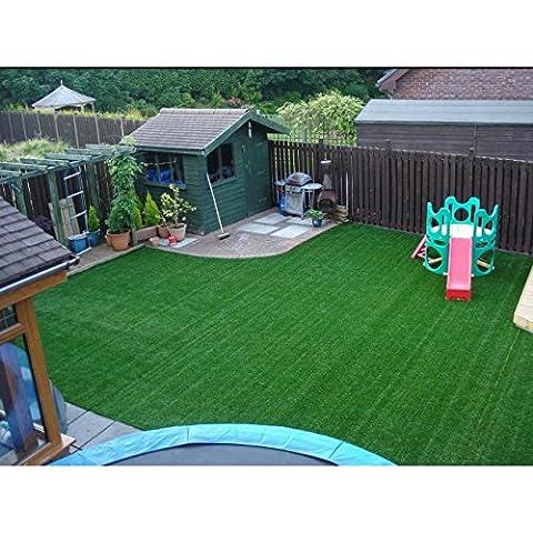 2m x 1m Dublin 10mm Artificial Grass 6ft 6 x 3ft 3 Garden Fake Turf Lawn Astro
