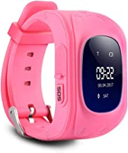 Smart watch Phone with GPS Tracker for Kids Boys Girls Children Fitness Tracker with SIM Calls Anti-lost SOS Wristband Brace