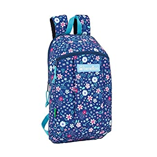 Safta – Benetton UCB In Bloom Blue Oficial Mini Mochila Uso Diario 220x100x390mm