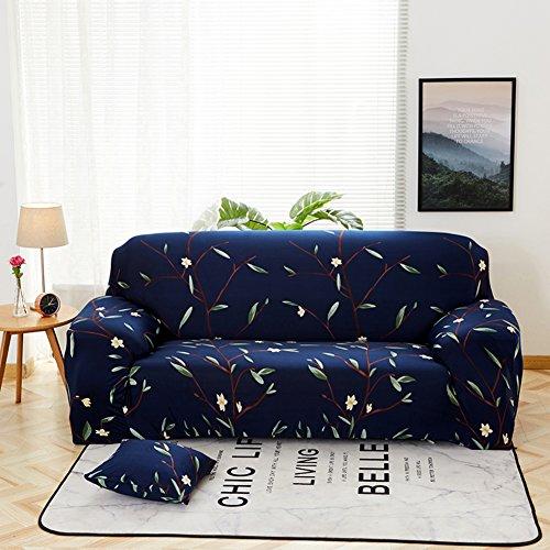 QINQIN Pflanze Blumen Sofabezug,Anti-rutsch All-Inclusive-Vier Jahreszeiten universal Sofabezug Stretch Haut Pflege Sofa Handtuch-O 190-230cm