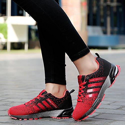 Scarpe Da Corsa Unisex Leggero Scarpe da Passeggio Scarpe Sportive Red
