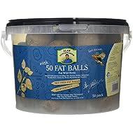 Pet Brands Ltd AT114 Alan Titchmarsh Wild Bird No Net Fat Balls – Pack of 50