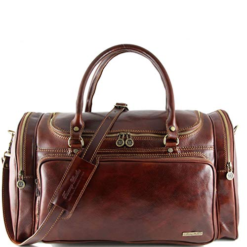 Tuscany Leather Praga Sac de voyage en cuir Marron