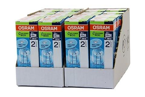 20 Stück Osram Halopin Energy Saver G9 klar 66720 ECO Halogenlampe 20W/230V
