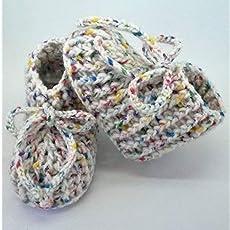 Patucos de ganchillo, clásicos, hechos a mano, para bebés de 0-3 meses. Temporada.