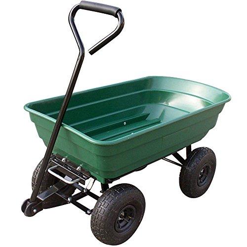 Chariot de jardin avec bac en plastique basculant - 250 kg