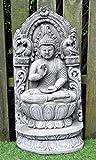 Grand Bouddha plaque murale–Plaque en pierre pour décoration de jardin à main//Statue
