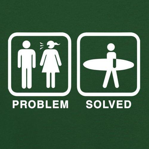 Problem gelöst - Surfen - Herren T-Shirt - 13 Farben Flaschengrün