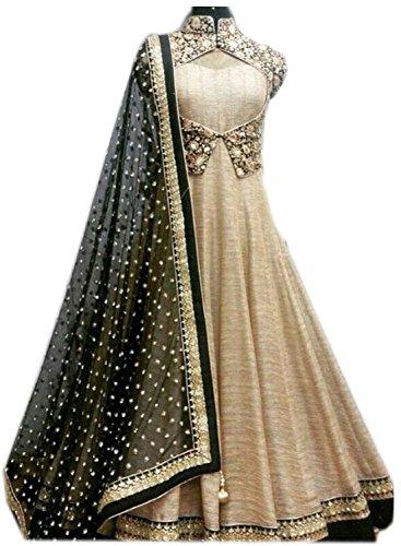 Pramukh Group Heavy Designer Wedding Style cream Beautifull Dress