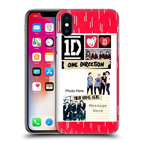 Cover Personalizzata Personale One Direction 1D Niall Crazy Over You Cover Retro Rigida per Apple iPhone X Canzoni